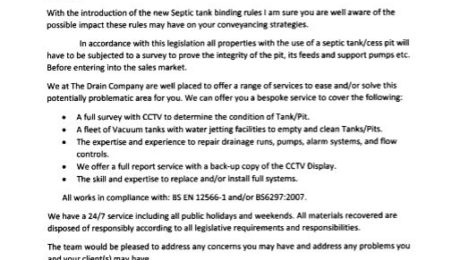 details of septic tank emptying service