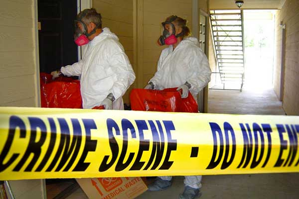 extreme cleaning of a crime scene