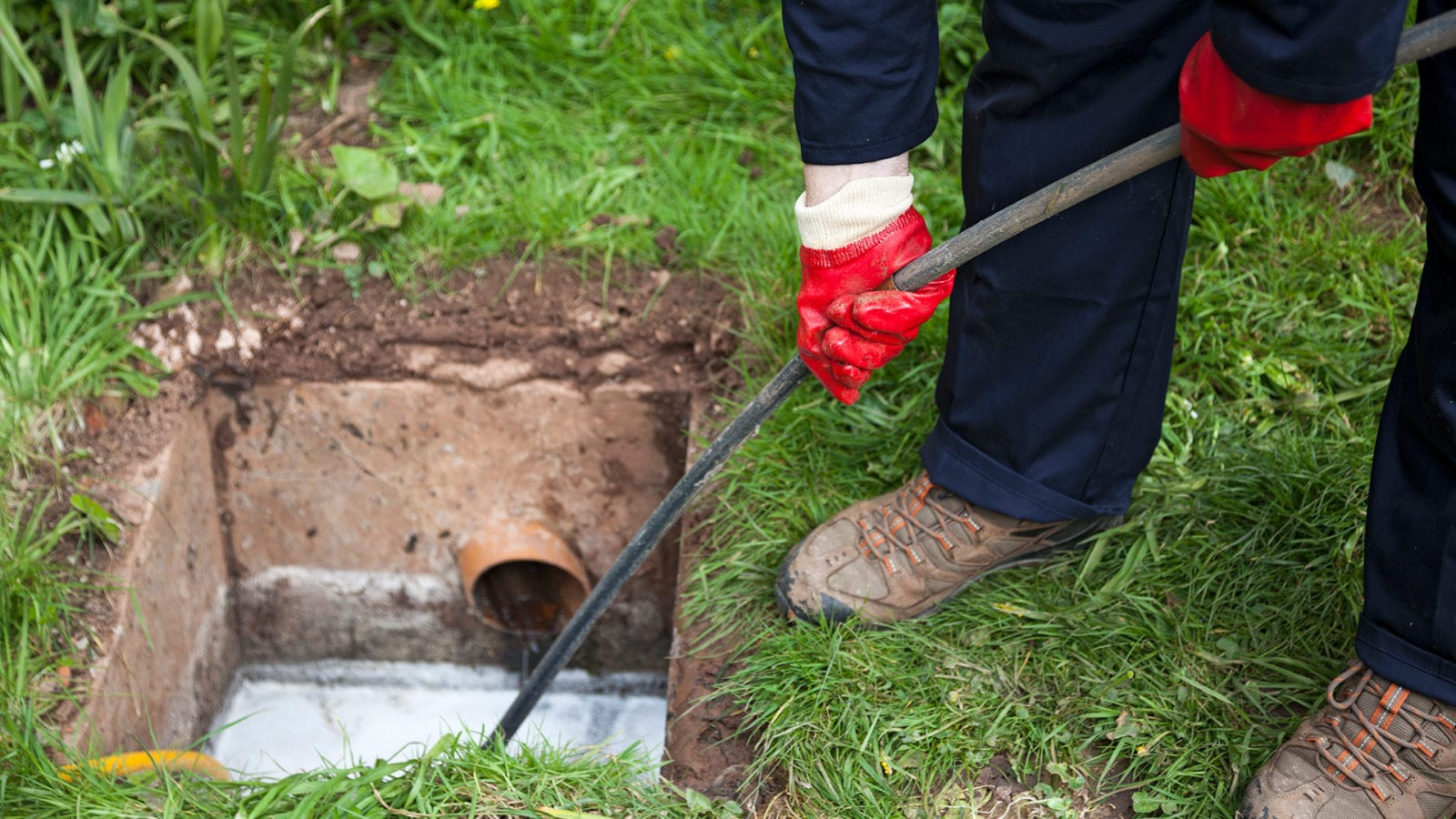 drain unblocking of a blocked drain