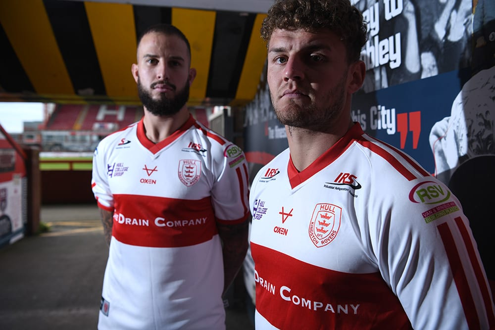 The Drain Company sponsorship of the new Hull KR shirt