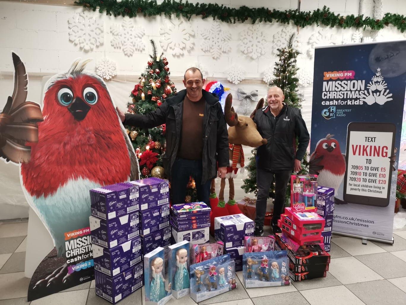 The Drain Company (Hull) Ltd's donation towards Mission Christmas